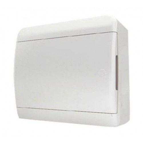 Щит распределительный навесной Tekfor B IP41 на 12 модулей с непрозрачной белой дверцей