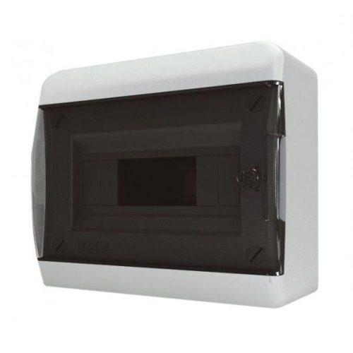 Щит распределительный навесной Tekfor B IP41 на 12 модулей с прозрачной черной дверцей