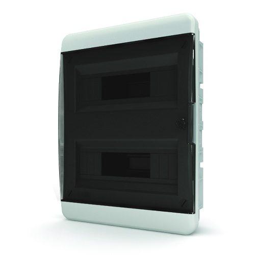Щит распределительный навесной Tekfor B IP41 на 24 модуля с прозрачной черной дверцей