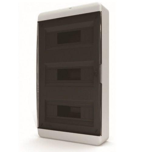 Щит распределительный навесной Tekfor B IP41 на 36 модулей с прозрачной черной дверцей