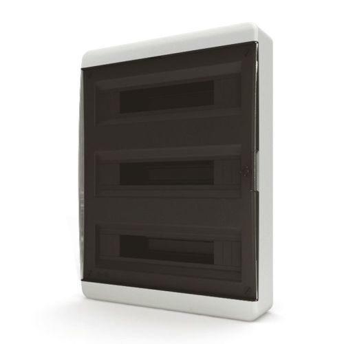 Щит распределительный навесной Tekfor B IP41 на 54 модуля с прозрачной черной дверцей