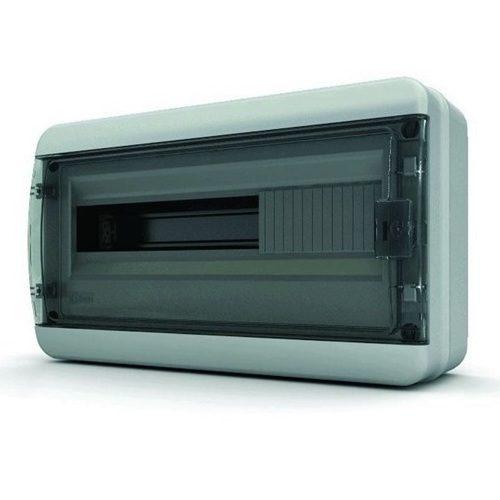 Щит распределительный навесной Tekfor B IP65 на 18 модулей с прозрачной черной дверцей