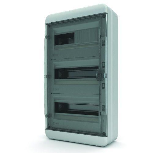Щит распределительный навесной Tekfor B IP65 на 36 модулей с прозрачной черной дверцей