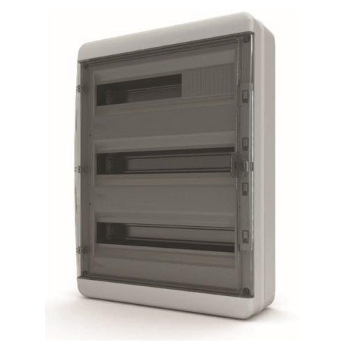 Щит распределительный навесной Tekfor B IP65 на 54 модуля с прозрачной черной дверцей