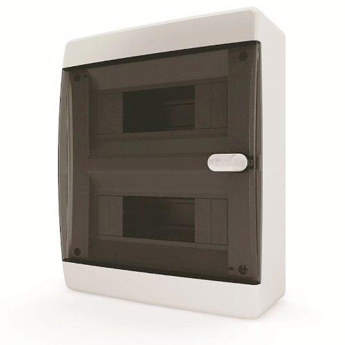 Щит распределительный навесной Tekfor C IP41 на 18 модулей с прозрачной черной дверцей