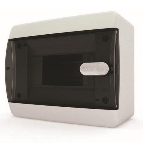 Щит распределительный навесной Tekfor C IP41 на 6 модулей с прозрачной черной дверцей