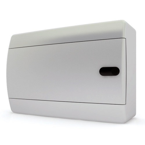 Щит распределительный навесной Tekfor C IP41 на 8 модулей с непрозрачной белой дверцей