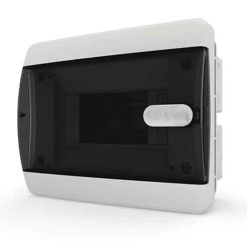 Щит распределительный встраиваемый в нишу Tekfor C IP41 на 6 модулей с прозрачной черной дверцей