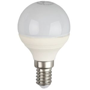 Лампа светодиодная 7 (60) Вт цоколь E14 шар теплый белый свет 30000 ч. LED SMD P45-7W-827-E14 ЭРА
