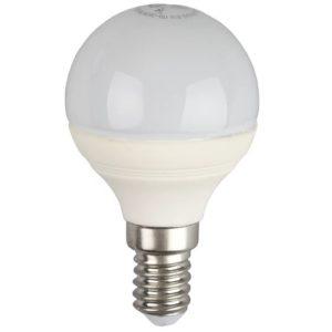 Лампа светодиодная 7 (60) Вт цоколь E14 шар холодный белый свет 30000 ч. LED SMD P45-7W-840-E14 ЭРА