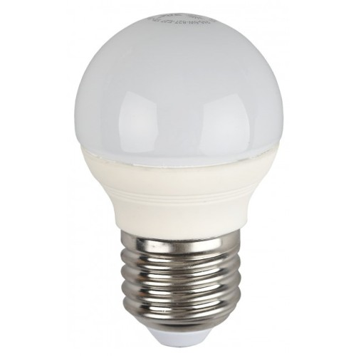 Лампа светодиодная 5 (40) Вт цоколь E27 шар холодный белый свет 30000 ч. LED SMD А45-5W-840-E27 ЭРА