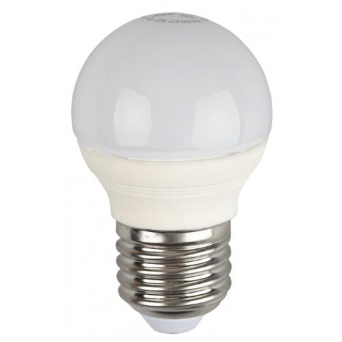 Лампа светодиодная 5 (40) Вт цоколь E27 шар теплый белый свет 30000 ч. LED SMD А45-5W-827-E27 ЭРА