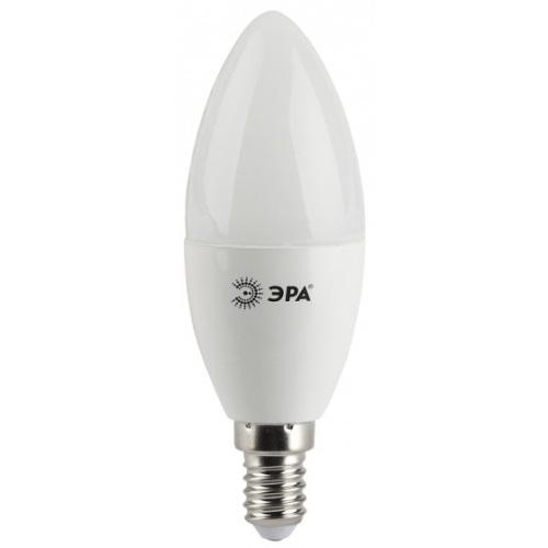 Лампа светодиодная 5 (40) Вт цоколь E14 свеча теплый белый свет 30000 ч. LED SMD B35-5W-827-E14 ЭРА