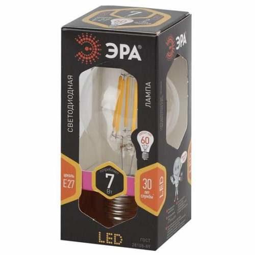 Лампа светодиодная 7 (60) Вт цоколь E27 грушевидная теплый белый свет 30000 ч. F-LED А60-7w-827-E27 ЭРА