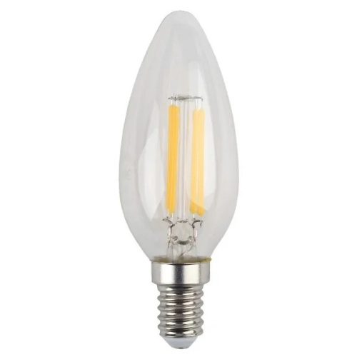 Лампа светодиодная 5 (40) Вт цоколь E14 свеча холодный белый свет 30000 ч. F-LED B35-5W-840-E14 ЭРА