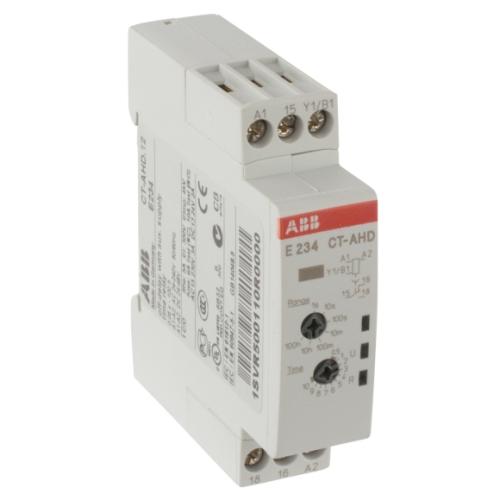Реле времени ABB CT-AHD.12 (задержка на отключ.) 24-48B DC 24- 240B AC (7 диапазонов 0,05с....100ч) 1ПК